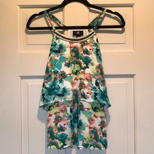 Beautiful Flowy Floral Sleeveless Blouse
